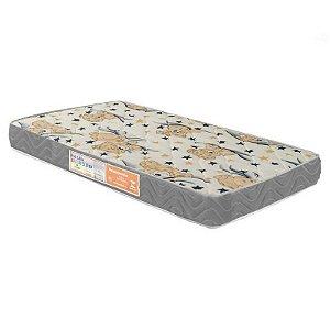 Colchão Para Berço 130x60x12 com travesseiro - D20 Bordado Cinza
