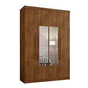 Roupeiro F108 Gold 4 Portas Com Espelho - Malbec