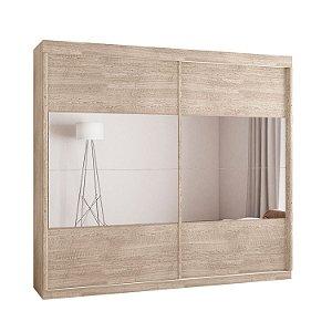 Roupeiro F108 Gold 2 Portas Deslizantes Com Espelho - Amarula