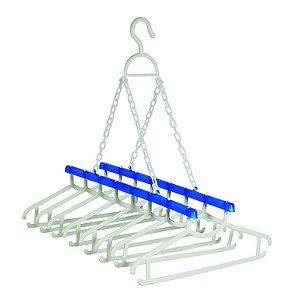 Varal Fácil com 8 cabides - Azul