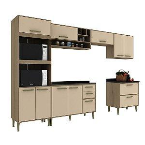 Armário de Cozinha Modulada Vitória CV001E - Avelã TX/Capuccino