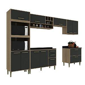 Armário de Cozinha Modulada Vitória CV001E - Avelã TX/Onix