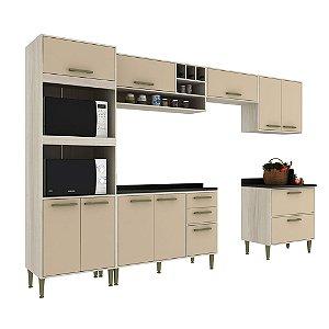 Armário de Cozinha Modulada Vitória CV001E - Crema TX/Capuccino
