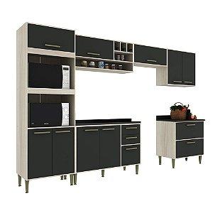 Armário de Cozinha Modulada Vitória CV001E - Crema TX/Onix