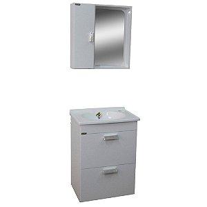 Gabinete para Banheiro com Espelho Londres - Branco