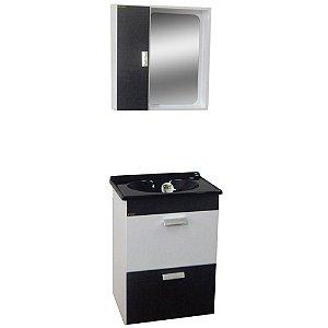 Gabinete para Banheiro com Espelho Londres - Cromo