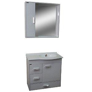 Gabinete para Banheiro com Espelho Porto - Branco