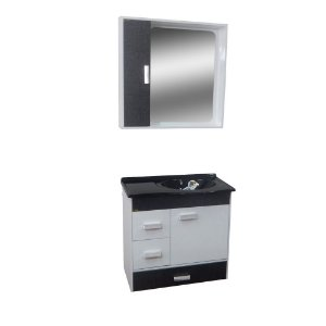 Gabinete para Banheiro com Espelho Porto - Cromo