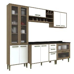 Armário de Cozinha Modulada Vitória CV005E - Avelã TX/Branco