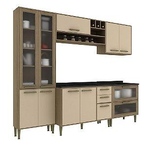 Armário de Cozinha Modulada Vitória CV005E - Avelã TX/Capuccino