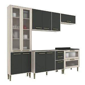 Armário de Cozinha Modulada Vitória CV006E - Crema TX/Onix