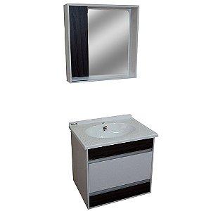 Gabinete para Banheiro com Espelho Moscou - Castanho