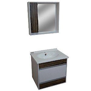 Gabinete para Banheiro com Espelho Moscou - Vintage