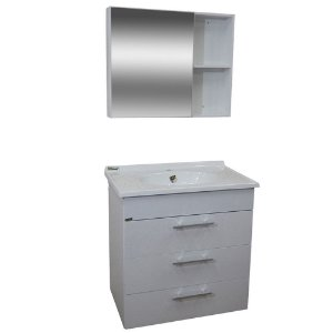 Gabinete para Banheiro com Espelho Málaga - Branco