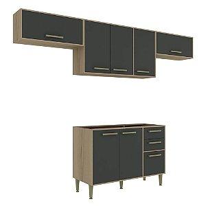 Armário de Cozinha Modulada Vitória CV009E - Avelã TX/Onix