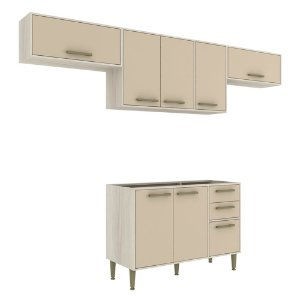 Armário de Cozinha Modulada Vitória CV009E - Crema TX/Capuccino