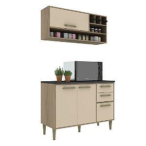 Armário de Cozinha Modulada Vitória CV011E - Avelã TX/Capuccino