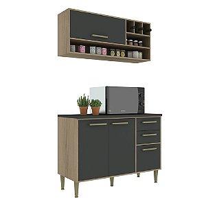 Armário de Cozinha Modulada Vitória CV011E - Avelã TX/Onix