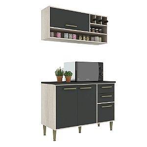 Armário de Cozinha Modulada Vitória CV011E - Crema TX/Onix