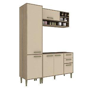 Armário de Cozinha Modulada Vitória CV012E - Avelã TX/Capuccino