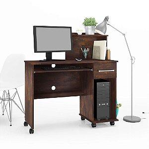 Mesa para computador com rodízios Studio - Noce