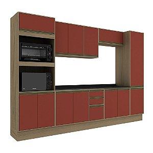 Armário de Cozinha Modulada Safira CS002E - Avelã TX/Rubi