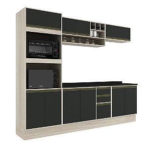 Armário de Cozinha Modulada Safira CS003E - Crema TX/Onix