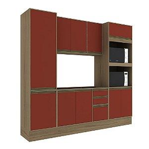 Armário de Cozinha Modulada Safira CS008E - Avelã TX/Rubi