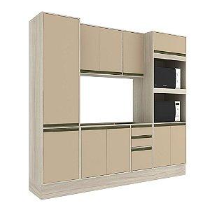 Armário de Cozinha Modulada Safira CS008E - Crema TX/Capuccino