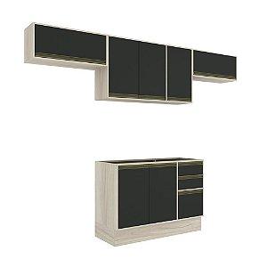 Armário de Cozinha Modulada Safira CS009E - Crema TX/Onix