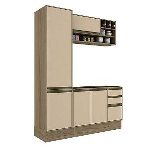 Armário de Cozinha Modulada Safira CS012E - Avelã TX/Capuccino