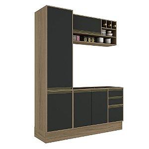Armário de Cozinha Modulada Safira CS012E - Avelã TX/Onix