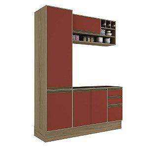 Armário de Cozinha Modulada Safira CS012E - Avelã TX/Rubi