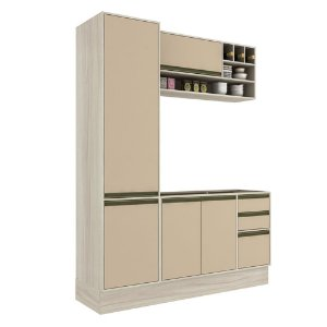Armário de Cozinha Modulada Safira CS012E - Crema TX/Capuccino
