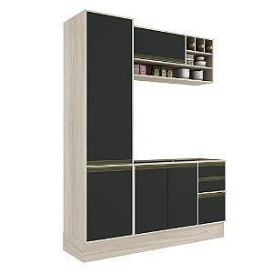 Armário de Cozinha Modulada Safira CS012E - Crema TX/Onix