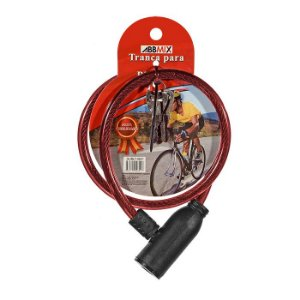 Cadeado para Bicicleta 65mm - Vermelho