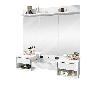 Penteadeira Camarim Suspensa com Espelho Florence - Branco
