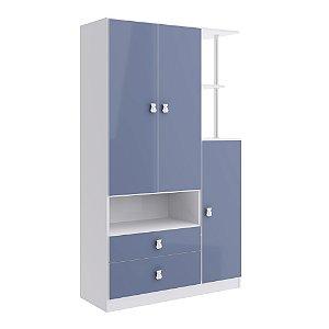 Roupeiro Alladin 3 Portas e 2 Gavetas - Azul