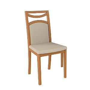 Cadeira de Madeira Maciça Murano - Off White/Champagne