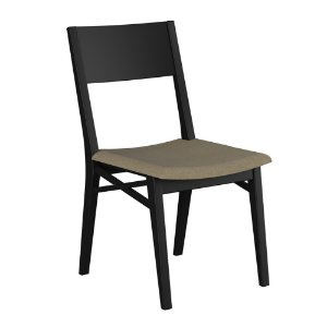 Cadeira de Madeira Maciça Merlot - Preto