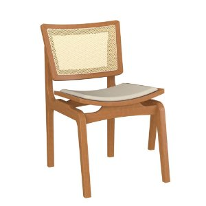 Cadeira de Madeira Maciça Veronica - Preto