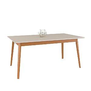 Mesa de Madeira Maciça 616 - Champagne/Off White