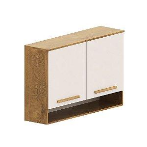 Aéreo Cozinha Compacta - Castanho/Off-White