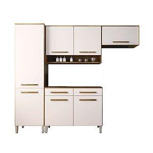 Cozinha Modulada Compacta 4 Peças - Castanho/Off-White
