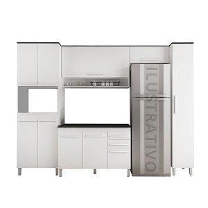 Cozinha Modulada 6 Peças Prata - Branco