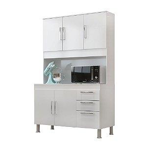 Kit Cozinha 1,20 Gêmeos 5 Portas 3 Gaveta – Branco