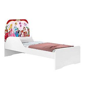 Cama Infantil Juvenil Branco Personagens - Princesas