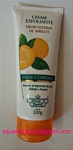 Creme Esfoliante Flores e Vegetais Apricot Com 200 Gramas