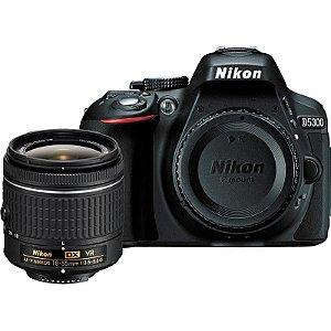 Câmera Nikon D5300, Af-p Dx 18-55mm Vr / 24.2mp / Full Hd / Wi-Fi