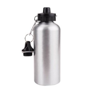 Squeeze de alumínio 600ml para personalizar - Prata ou branco